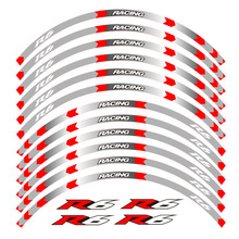 8 color for YAMAHA YZF R6 motorcycle 17inch wheel decals Reflective stickers rim stripes YZF R6 motorbike YZF R6 yzf600 yzf r6 97 02 motorbike motorcycle voltage rectifier regulator spare part for yamaha