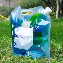 10L Portable Liquid Bag Folding Water Storage Lifting Bag Supply Carrier Camping Hiking Survival