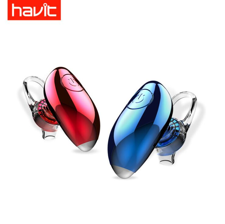 HAVIT-i15Ms. <font><b>Bluetooth</b></font> V4.1 Headphones True Wireless Unilateral Invisible Mini Ultra Small Earphones Over The Ear Voice Call image