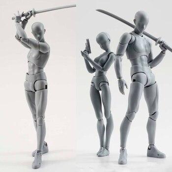14cm artista di Arte pittura Anime figura SHF Schizzo Disegnare Maschio Femmina Mobile del corpo chan Azione comune figure Toy modello disegnare Mannequin 1
