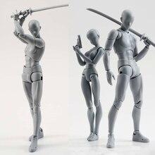 14ซม.ศิลปินศิลปะภาพวาดรูปSHF SketchวาดชายหญิงMovable Body Chan Joint Action Figureของเล่นรุ่นวาดMannequin