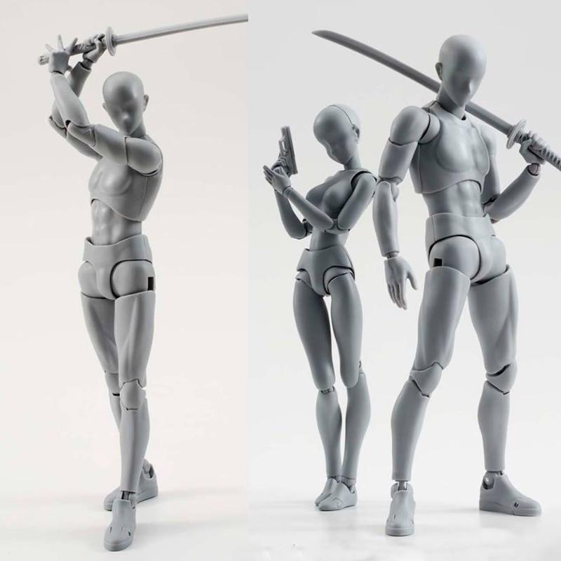 14 cm künstler malerei Anime abbildung SHF Skizze Ziehen Männlichen weibliche Beweglichen körper chan joint Action-figur Spielzeug modell ziehen schaufensterpuppe
