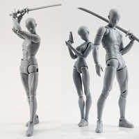 14cm künstler Kunst malerei Anime figur SHF Skizze Zeichnen Männlich-weibliche Beweglichen körper chan joint Action-figur Spielzeug modell ziehen Mannequin