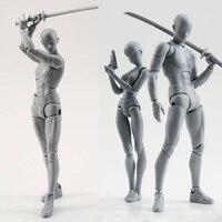 15 cm nghệ sĩ Art sơn Anime hình SHF Phác Thảo Vẽ Nam nữ Di Chuyển cơ thể chan phần Action Hình Đồ Chơi mô hình vẽ Mannequin