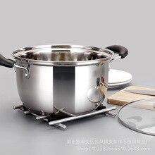 1 قطعة وعاء مزدوج أسفل إناء للحساء غير المغناطيسي الطبخ وعاء متعددة الأغراض تجهيزات المطابخ غير عصا