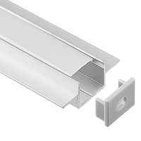 10 50 Meters Pack 1m Per Piece Led Aluminum Profile Slim 1m With Milky Diffuse Or