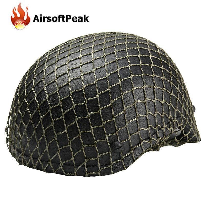 Prix pour Nylon Mesh Tissu Casque Net Couverture pour M1 M35 M88 G80 Casque Airsoft Tactique Paintball Wargame Casque Accessoires ^