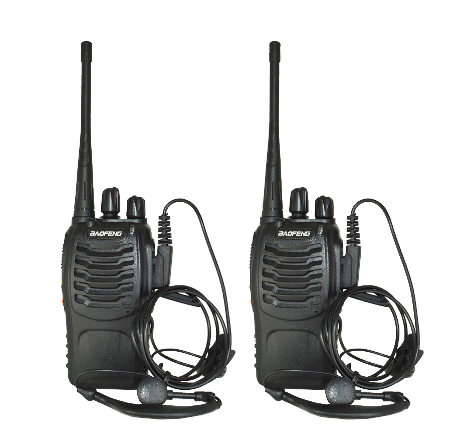 2Pcs/set baofeng BF-888S Walkie Talkie Portable radio station BF888s 5W BF 888S Comunicador Transmitter Transceiver radio set