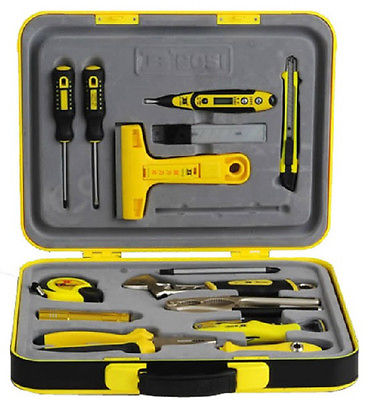 In ABS Box Portable Hardcover 24pcs Family Tools Home Owner's Tool Set