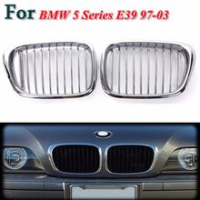Plated Chrome Front Hood Kidney Grilles Insert For BMW5 SeriesE39 97-03