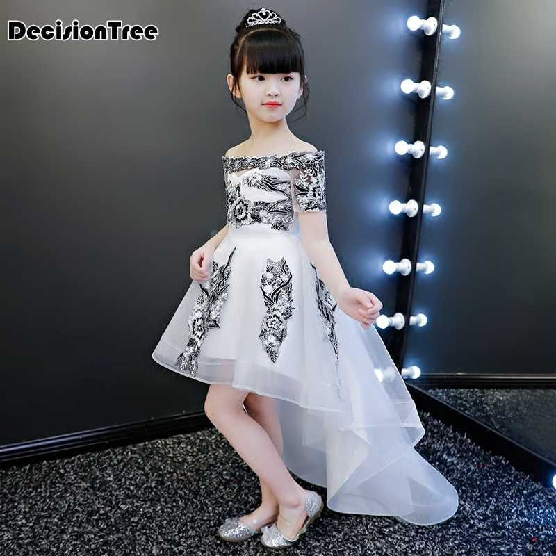 13087a8aa ... 2019 new teenage girl dresses long formal prom gown for kids girls  clothing wedding party tutu ...