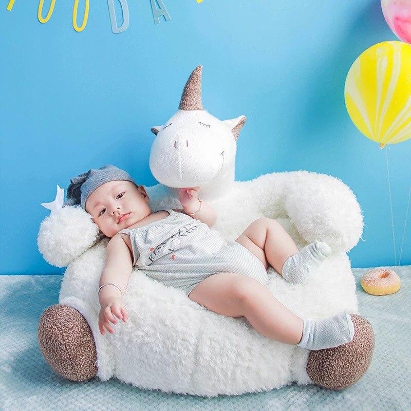 Licorne peluche jouets créatifs enfants licorne doux coussins lit berceau chaise paresseux canapé, décor à la maison 42*65*55 cm livraison directe