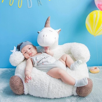 Unicorn Plush Stuffed Toys Creative Children Unicorn Soft Cushions Bed Crib Chair Lazy Sofa, Home Decor 42*65*55cm Dropshipping