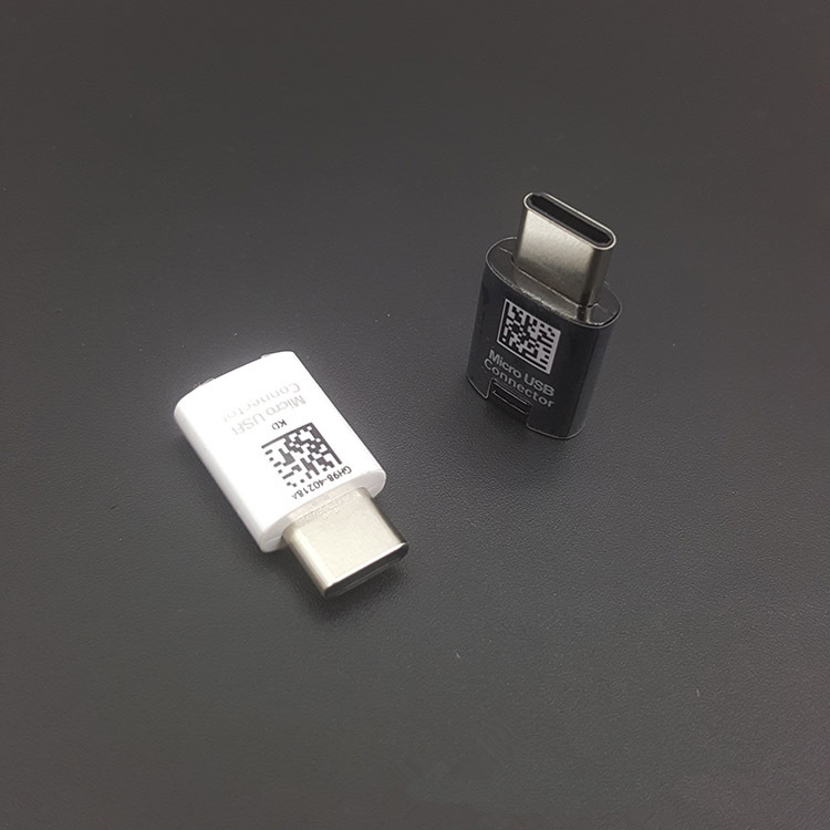 Original For Samsung Galaxy S8 Plus note 8 USB Type-C Adapter Micro USB Connector to Type C Converter USB-C Fast charger Cable