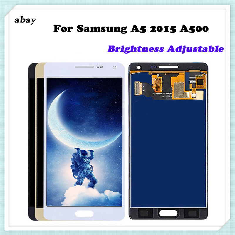 TFT/OLED Quality For <font><b>Samsung</b></font> Galaxy A5 2015 <font><b>A500</b></font> A500F A500M Replacement <font><b>LCD</b></font> Display+Touch Screen Digitizer Assembly Adjustable image