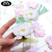1st / lot Söt Romantisk Lotus N gånger klistra in Memo Pad Sticky Note Kawaii Paper Scrapbooking Sticker Pads Creative Office Stationer