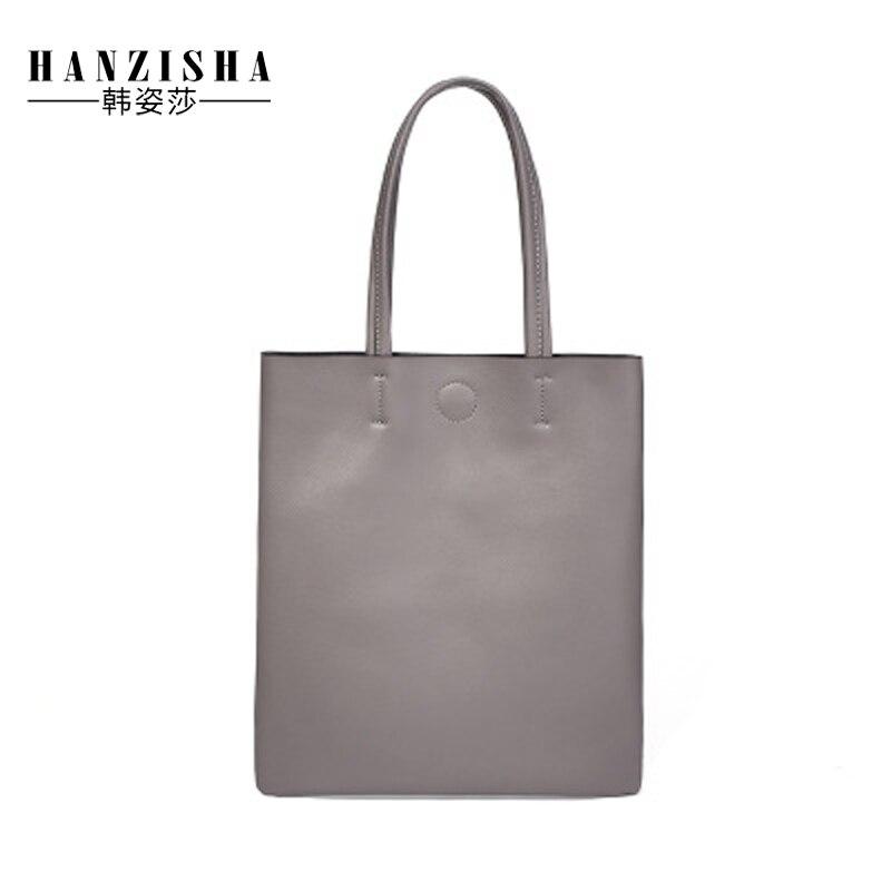 2018 New Fashion Genuine Leather Women Handbag Simple Design Solid Women Bag Famous Brand Bag Women Shoulder Bag Tote ladies sweet solid color and beading design tote bag for women