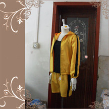 Nisemonogatari & Bakemonogatari Karen Araragi Cosplay Costume Anime Yellow Custom Made Uniform