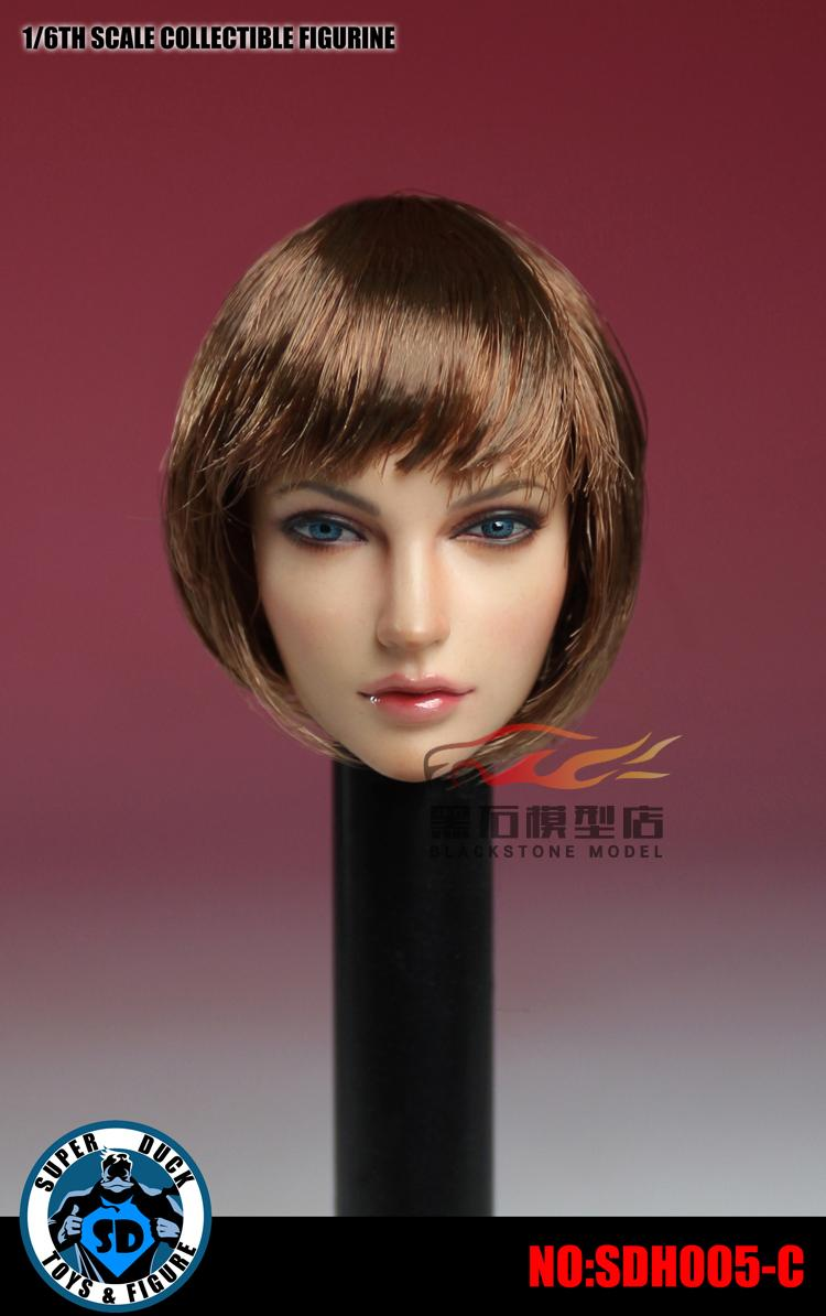 SUPER, DUCK, 1:6, SDH005 Europe and America Beauty Head Carving Model
