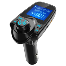 Car Mp3 Audio Player Wireless Bluetooth FM Transmitter Modulator Handsfree Kit LCD Dual USB Charger for iPhone Samsung T11