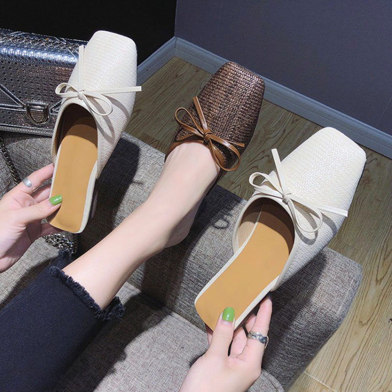 Bailehou Women Slippers 2018 Butterfly Knot Mules Flat Shoes Fashion Slides Ladies Slippers Casual Shoes Outdoor Flip Flops NEW summer woman slippers outdoor butterfly knot decoration fashion slides for ladies flat beach shoes women slippers footwear