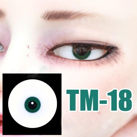Free Shipping Doll Eyes Small Iris Black Eye Pupil Green Glass Eyes For 1/3 1/4 1/6 BJD SD DD MSD YOSD Doll Accessory TM-18