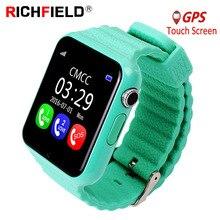 V7k Bambini Del Bambino Intelligente Orologio SOS Antil perso Smartwatch 2G SIM Card Bluetooth Orologio Chiamata Posizione Tracker Smartwatch PK Q50 Q90 Q528