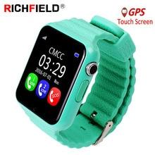V7k dla dzieci smart watch SOS Antil lost Smartwatch dla dzieci 2G karty SIM zegar Bluetooth lokalizacja połączeń Smartwatch tracker PK Q50 q90 Q528
