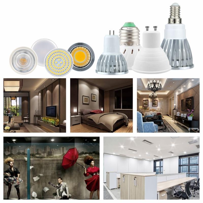 E27 LED E14 Lamp GU10 Spotlight Bulb 48 60 80leds lampara AC 220V 240V bombillas led MR16 Lampada Spot light Gu5 3 5W 6W 7W in LED Bulbs Tubes from Lights Lighting