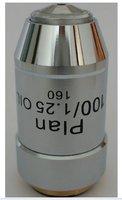 Novo plano de óleo 100x lente objetiva acromática para microscópios metalúrgicos! Frete grátis|objective lens|plan achromatic lenslens for microscope -