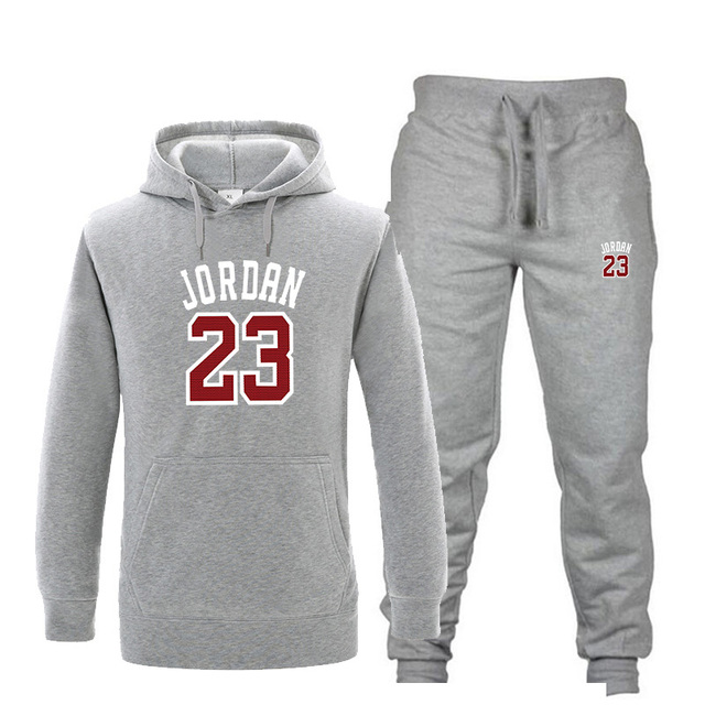 6fd69f992bb5cf New Tracksuit men Fashion JORDAN 23 Hoodie suit Men Sportswear Two Piece  Sets All Cotton Fleece Thick hoodie+Pants Sporting Suit