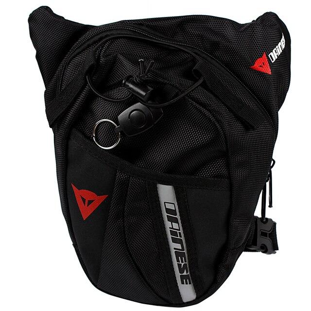 Negro de la motocicleta al aire libre paquete bolso de la cintura mochila multifuncional bolsa de pierna de la gota de la motocicleta ktm knight bolsa de moto accesorios