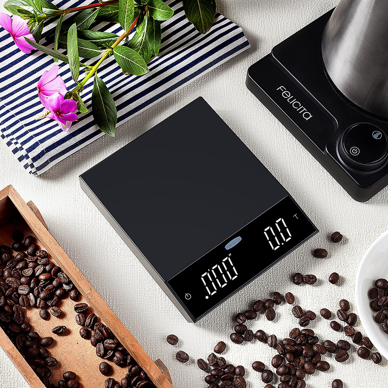 Felicita coffee scale with Bluetooth smart digital scale pour coffee Electronic Drip Coffee Scale with Timer