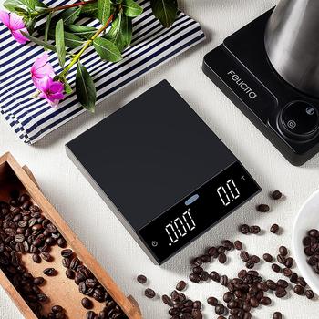 Waga do kawy Felicita z Bluetooth inteligentna cyfrowa waga wlać kawę elektroniczna waga do kawy kroplówki z zegarem tanie i dobre opinie jaffee Rectangle DIGITAL felicita incline Z tworzywa sztucznego Elektryczne 0 1g