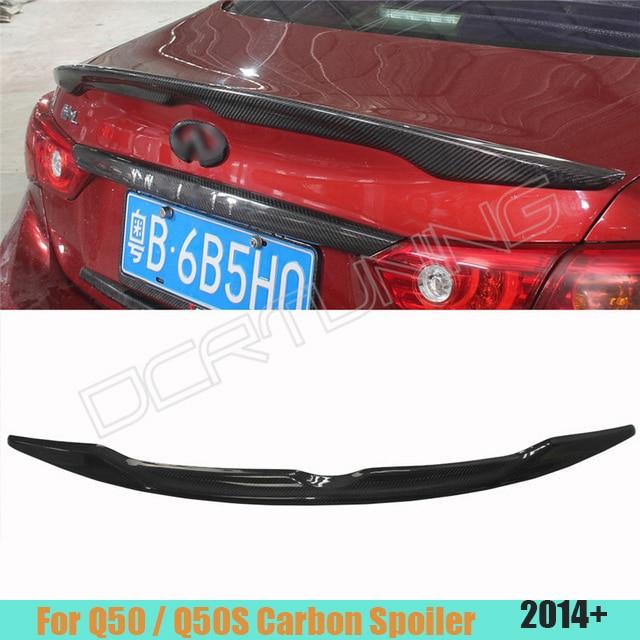 For Infiniti Q50 Q50S Carbon Spoiler 2014 2015 2016 - UP Q50 Carbon Fiber Rear Trunk Wing Spoiler Carbon Fiber yandex w205 amg style carbon fiber rear spoiler for benz w205 c200 c250 c300 c350 4door 2015 2016 2017