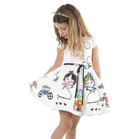 Beautiful Lace Princess Dress Girls Kids Full Lace Floral One Piece Dress Child Princess Party Dress