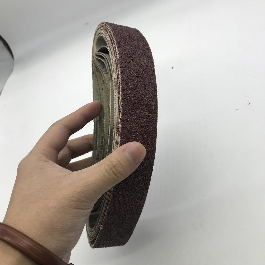 Image 2 - 10Pcs Dremel Accessories 30*533 mm Sanding Belt Grit 40 600 Sander Grinder Belt for Drill Grinding Polishing Power Tool-in Abrasive Tools from Tools