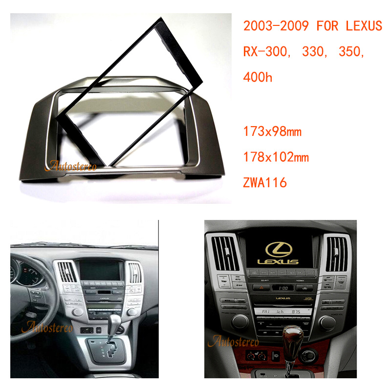 Car Radio Fascia Dash Install Fitting Trim Kit For LEXUS RX-300, 330, 350, 400h 2003-2009,TOYOTA Harrier 2003-2012 ZWA11-116
