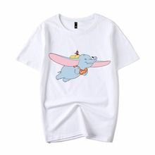 2019 New Women Cartoon Dumbo shirt Little flying elephant T-shirt Casual  Summer T-Shirt