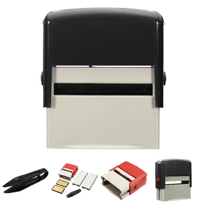 1 Pcs Custom Personalised Self Inking Rubber Stamp Kit
