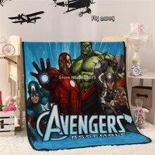 Лидер продаж мультфильм Marvel Мстители Флисовое одеяло на кровать hello kitty Путешествия Диван Одеяло для взрослых/детей 100×140 см Бесплатная доставка