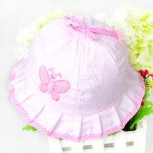 1PCS Free Shipping New 2014 Fashion Infant Visor Sun Hats Caps Soft Cotton Baby Sun Hats Children Girls Sun Polka Dot Hat#L03096
