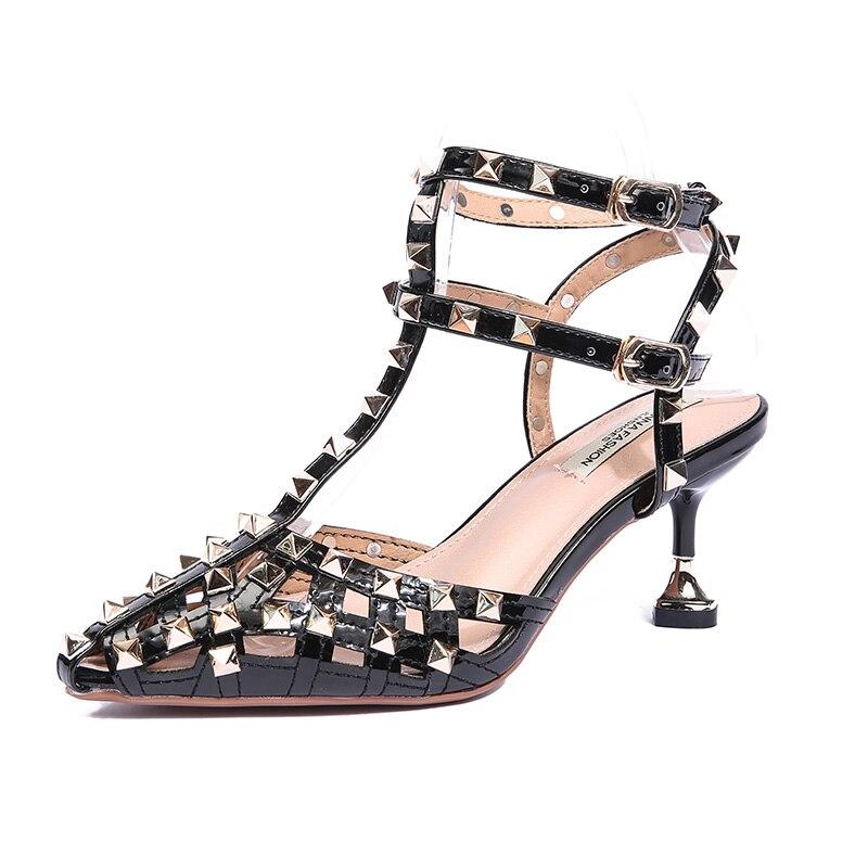 Ding Avec Creux 5cm 5cm 6 Petit Frais 6 5cm Filles Talons Rivet Baotou 6 Nouveau Chaussures Fée Fine Liu Hauts 2018 Pointu D'été Sandales À Femelle Tnwqxz4a
