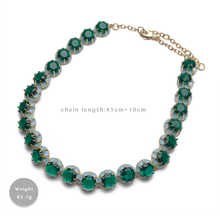 Amorita boutique Green circular design fashion necklace