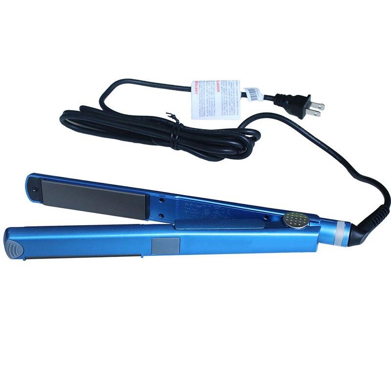 Plaque de titane 2 DANS 1 Professionnel Cheveux Fer Plat Fers À Friser Bigoudis Cheveux Styling Outils