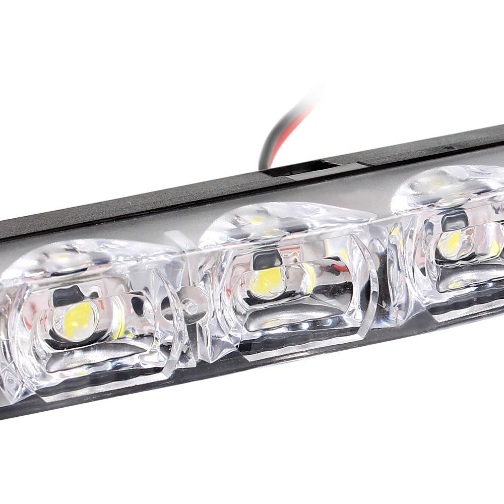 2 pcs Car Styling DRL 6 LEDs Carro Luzes Diurnas Carro diurna luz LED - Faróis do carro - Foto 4