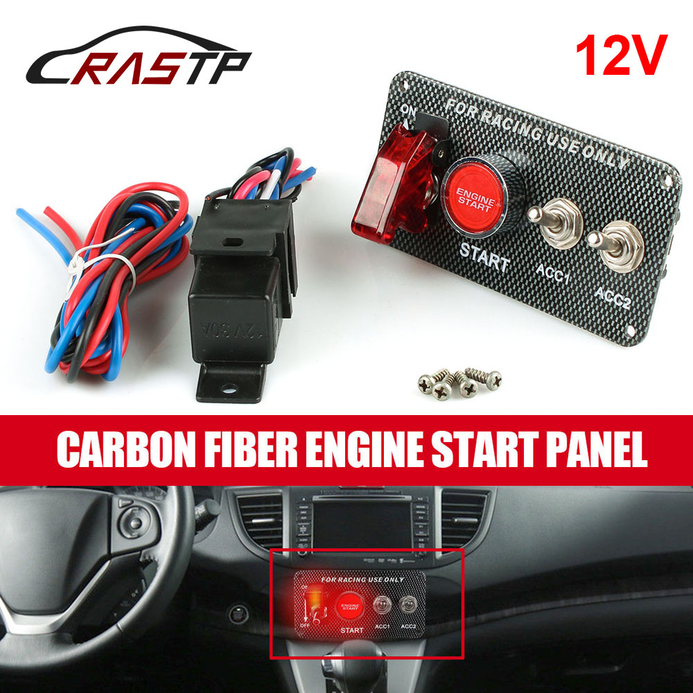 Ignition Switch 12V Panel Engine Start Push Button Toggle Racing Car DIY Car Modification Parts For Racing Style Cars RS BOV005 in Car Switches Relays from Automobiles Motorcycles