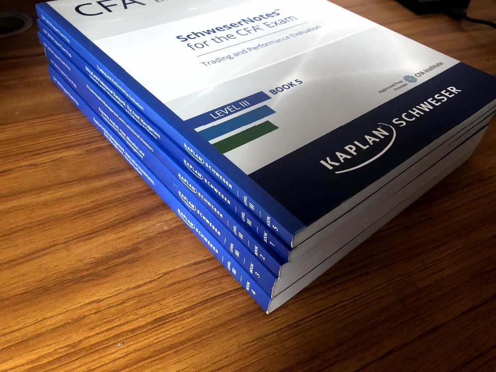 US $259 0 |2019CFA Level III Schweser Study Notes 2019 CFA Level III  Practice Exams V1/ V2 Formula List-in Books from Office & School Supplies  on