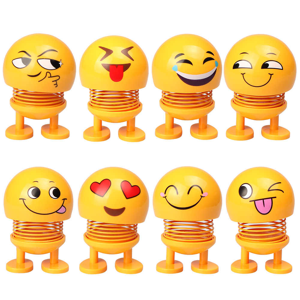 Stupendous Emoji Shaking Head Doll Expression Toy Model Wobble Head Doll Desk Decor Funny Baby Toy Robot Lovely Car Dashboard Decor Auto Download Free Architecture Designs Scobabritishbridgeorg