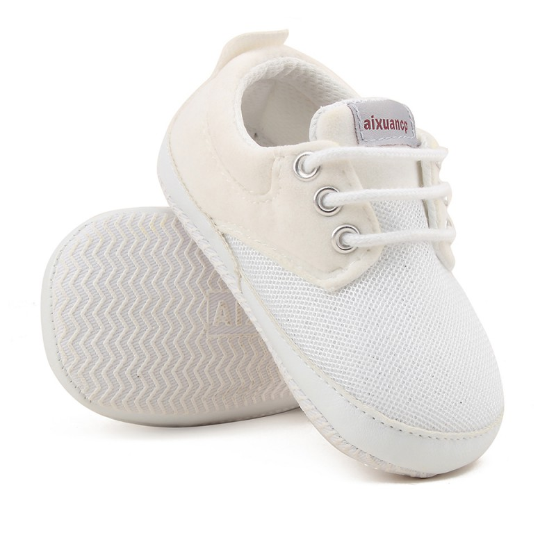 Crib Shoes First-Walkers Baby Canvas Soft-Sole Autumn 0-18-Months New Boy Spring